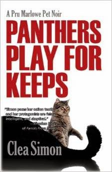 Panthers Play for Keeps, by Clea Simon. Reviewed by Miss Cuddlywumps at http://cuddlywumps.blogspot.com/2014/06/mauling-and-murder-plus-pet-psychic.html