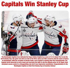 Your Stanley Cup Champions, the Washington Capitals. Caps Hockey, Hockey Teams, Sports Teams, Washington Capitals Stanley Cup, Washington Capitals Hockey, We Are The Champions, Stanley Cup Champions, Vegas Golden Knights, Nhl