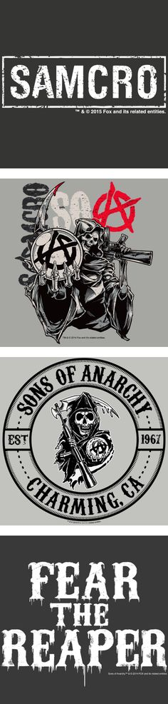 Sons of Anarchy designs on t-shirts, drinkware, tote bags, phone cases, and more! #SonsofAnarchy