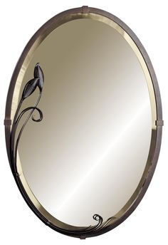 "Hubbardton Forge Metra Oval Leaf 32 1/2"" High Wall Mirror -"