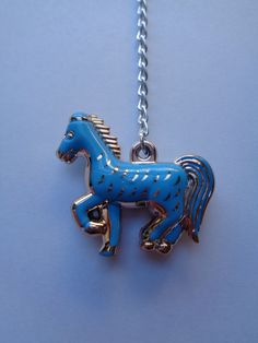 Blue and gold Horse, Pony key ring by CraftyBunnyDog on Etsy