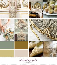 inspiration board - gleaming gold #muted #gold #bronze