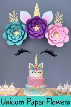Diy Unicorn Birthday Party, Spongebob Birthday Party, Birthday Fun, Unicorn Baby Shower Decorations, Birthday Party Decorations, Unicorn Party Supplies, Summer Crafts For Kids, Balloon Garland, Flower Backdrop
