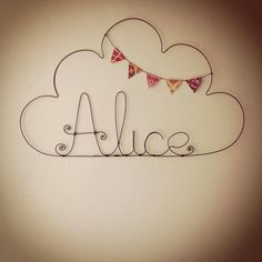 "Nuage prénom et fanions fille ""Alice"" - Little You - Kidstore"
