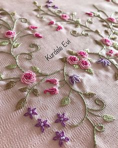 doll brasilianische Stickerei liefert A Slice Of Success: Ways On How To Succee Hand Embroidery Tutorial, Hand Work Embroidery, Flower Embroidery Designs, Simple Embroidery, Learn Embroidery, Hand Embroidery Stitches, Silk Ribbon Embroidery, Crewel Embroidery, Embroidery Patterns