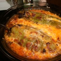 Cheese Baked Chili Rellanos Recipe for HCG Phase 3 #chilichicken