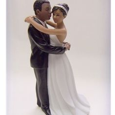 """First Dance"" African American Couple Wedding Cake Topper  #ChipotleWeddingSweepstakes"