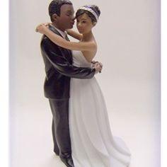 """First Dance"" African American Couple Wedding Cake Topper  #ChipotleWeddingSweepstakes"