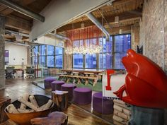 Torchia's Chicago office for event-planning company Red Frog Events via Designwire Daily, Photo by Nelson and Torchia.