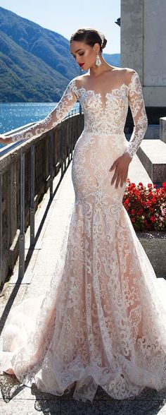 Milla Nova White Desire 2017 Bridal Collection - Ariana Wedding dress | Off the shoulder long sleeve lace bridal gown