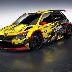 Rally Car Graphic design for Skoda Fabia - New Ideas Gt Cars, Race Cars, Bmw M4, Car Wrap Design, Vw Motorsport, Subaru Wrc, Racing Car Design, Bike Photoshoot, Nascar