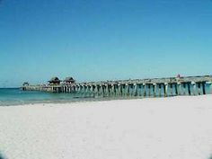 Naples pier and beach. The water temp was 82 degrees on May 9 while I was swimming here!