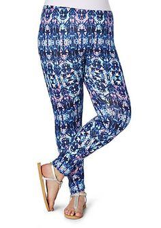 Plus Blue Mosaic Legging | rue21