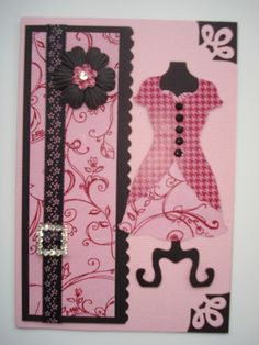 Loving my new Stampin Up Dress Framelits - having so much fun making a wardrobe of dresses to put on cards.