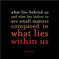 """What lies behind us and what lies before us are tiny matters compared to what lies within us. """"What lies behind us and what lies before us are tiny matters compared to what lies within us. Wrestling Quotes, Softball Quotes, Wrestling Mom, Softball Mom, Football Sayings, Softball Stuff, Softball Pictures, Basketball Quotes, Football Shirts"""