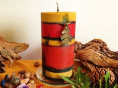 Fall Candle soy large cylinder 3x6 scented by CandlesbyDeganit, $22.00 To call autumn Fall is so sad yet so true