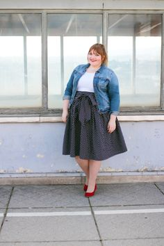 kathastrophal.de | DIY your Closet skirt with tiny hearts | Plus size outfit
