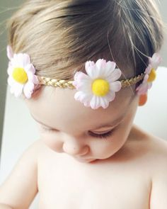 potluck store - unique accessories for your little one by potluckstore Boho Headband, Newborn Headbands, Pink Daisy, Pale Pink, Boho Fashion Over 40, Fashion Courses, Simple Shoes, Trendy Hairstyles, Lip Colors