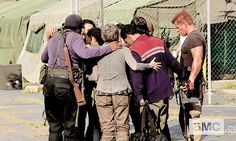 Group hug after filming MSF