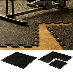 EZ-Flex Interlocking Recycled Rubber Floor Tiles from Costco I want to put  this in the garage area so I