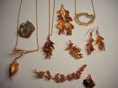 "Information on electroforming or electroplating organic materials for ""gold dipped"" jewelry"