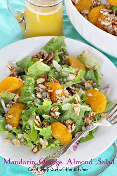 Mandarin Orange Almond Salad- I added tuna...it is very, very good , even the kid likes it. We'll definitively have it again...