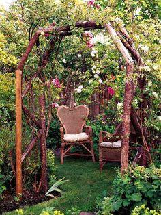 Rattan Möbel Sitzbereich Gartengestaltung