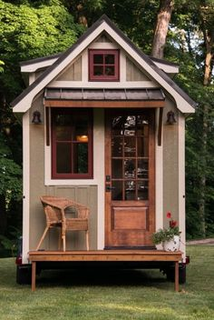 Timbercraft Tiny Home ~ OH SEE, I'LL TAKE THIS ONE! HOPEFULLY LOTS OF WINDOWS TO LET IN THE NATURAL LIGHT.....OH I'M IN LOVE ♥