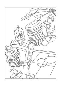 Rodney arrives to the large city coloring page printable game | 333x236