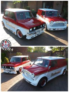 Up next on we have the King Of Beers adorned upon the King Of Cars 😁 Yes its the superb duo of Minis. I love the styling on the Clubby, just looks cool I reckon. Classic Mini, Vans Classic, Mini Clubman, Mini Coopers, Rover Mini Cooper, Morris Minor, Smart Car, Mini Me, Looks Cool