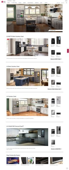 From basic black and crisp white, to original stainless or a more modern take on it, browse LG'S kitchen appliance finishes in colors that enhance your style. Floor Plans, It Is Finished, Kitchen Appliances, The Originals, Modern, Diy Kitchen Appliances, Home Appliances, Trendy Tree, Kitchen Gadgets