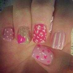 Cute Valentine nails