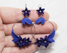 Hey, I found this really awesome Etsy listing at https://www.etsy.com/listing/398601665/royal-blue-earrings-cobalt-blue-flowers