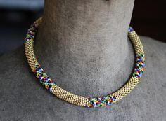 Colorful Dotted African Style Necklace Multi Color African