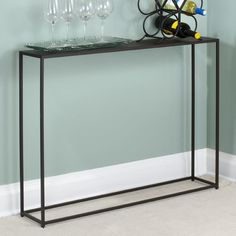 TFG Urban Console Table | Wayfair - when you need a sliver of an entry table (only 8 inches wide!)