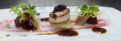 ¡¡¡Ideas para comer¡¡¡ Viera con tartar de apio, sardina ahumada y caviar, en @Cielodeurrechu, @Zieloshopping #yummy
