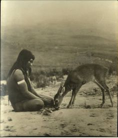 NA youngster with deer