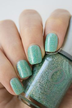 ORLY sparkling garbage. click for swatches & review #orly #glitter