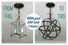 This is so awesome!!!!  Easy and inexpensive DIY orb chandelier - Lovely Etc.