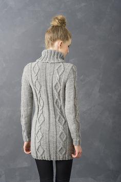 Naisen palmikkotunika Novita Isoveli | Novita knits