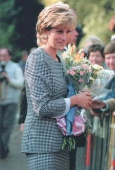 October 31, 1995: Diana, Princess of Wales during a visit to Birmingham's National Institute of Conductive Education as its patron.