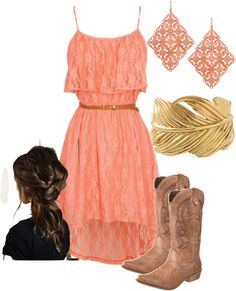 """""""pink sundress"""" by bellalee2000 on Polyvore"""