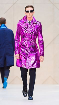 I confess a love of Burberry. A metallic pink silk trench for a slummin' t-shirt and jeans, thank you!
