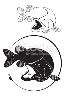 walleye silhouette - Google Search