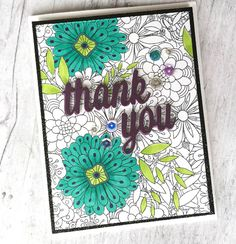 Bundles of Blossoms Background stamp and Thank You Die-namics - thereisacardforthat #mftstamps