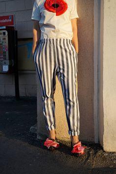 Striped Pants, Glamour, Sport, Street, Fashion, Moda, Stripped Pants, Deporte, Fashion Styles