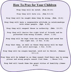 How to pray for your children † ❤