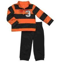 Carter's Infant Boys 2-PCS COTTON FRENCH TERRY PANTS Black & Orange Sz 9 MOS NWT  Buy It Now At:  http://stores.ebay.com/Bumblebee-Boutique99