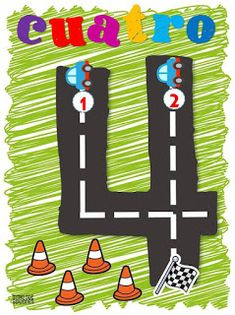 Numbers with road, from the group Star Creating Writing Activities For Preschoolers, Toddler Learning Activities, Kindergarten Activities, Kids Learning, Teaching Time, Teaching Math, Maths, Transportation Theme Preschool, Math Pages