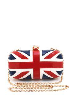 british flag skull clutch $47.00